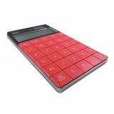Calculadora De Escritorio Diseño | Deli 1589 Roja | Escool