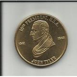 Moneda Usa 10o Presidente John Tyler 1841-1845