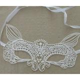 Máscara Branca Feminina Erótica Sexy Baile Fantasia