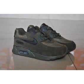 Kp3 Zapatos Nike Air Max 90 Verde Para Niños