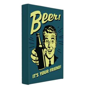 Quadro Vintage Beer 50x75 Impresso Tela Alta Qualidade