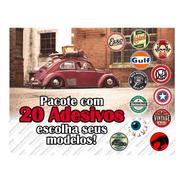 Adesivos Retro Antigos Vintage Automotivos Diversos (20 Un.)