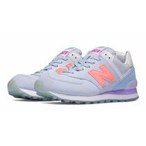 Zapatillas New Balance 574 Lila Violeta Coral Nb! Mujer