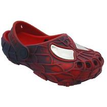 Sapato Sandalia Infantil Meninos Babuche Homem Aranha Crocs