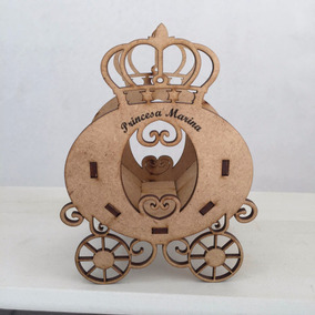 30 Carruagem Princesa Coroa Centro De Mesa Cachepô