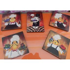 cuadros decorativo para cocina chef pz vinilo