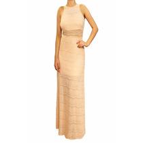Vestido Largo Encaje Elastizado Verano Mujer, Brishka V-0045