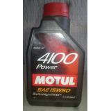 Aceite Motul Original # 4100 Sae 15 W 50 Semisintético