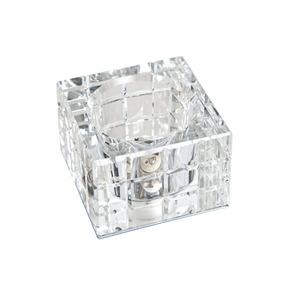 Spot Cristal Quadrado Pequeno Embutir G9