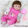 Reborn Boneca Bebê 40cm Lara +acessórios Certidão Promoção