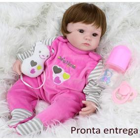 Reborn Boneca Bebê 40cm Lara + Certidão + Kit Promoção