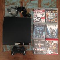Playstation 3 Slim Travado Com 6 Jogos Incluindo Gtav Gta 5