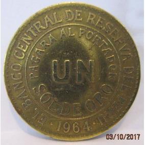 Monedas Antiguo Un Sol De Oro 1964