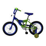 Bicicleta Rodada 16 Macilux Niños Infantil Azul Con Verde