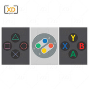 Placa Decorativa Games Controles Xbox Playstation Nintendo