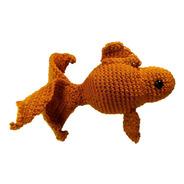 Peluche Pez Dorado De Colores Crochet Amigurumi Unidad