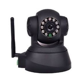 Camera Ip Wireless/wired Pan/tilt - Branco/preto