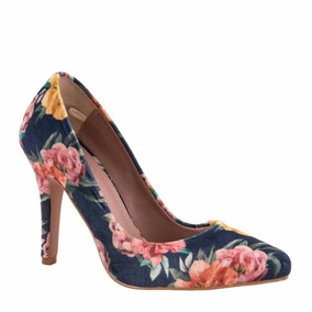 Zapatillas 170347 Tacon 11 C Print Estampado Flores