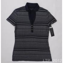 Camisa Gola Polo Feminina Tommy Hilfiger - Tamanho M