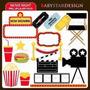 Kit Imprimible Cine Peliculas Imagenes Clipart