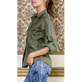 b9d71c6cbab16 Camisas Talle Am AM de Mujer Verde en Mercado Libre Argentina