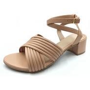 Sandália Sapato Feminino Madare Ts8869-2904 Rosa Nude