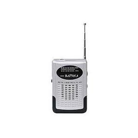 Mini Rádio De Bolso Com Antena Am Fm Batiki