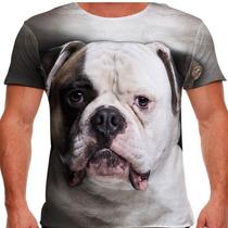 Camiseta Cachorro Bulldog Americano Masculina