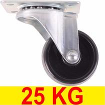 Rodinha Para Móveis Giratória Suporte Com Rodas Rodízio 25kg