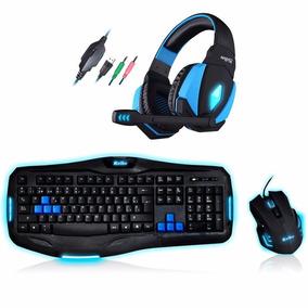 Combo Gamer Teclado Mouse Usb Auricular Retroiluminados