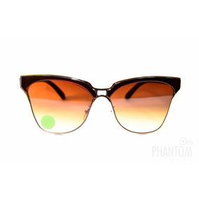 Oculos Sol Feminino Degrade Marron Grande Redondo Modinha 9214235dc1