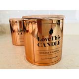 Vela De Cera De Soja En Envase Vidrio Gold Love This Candle