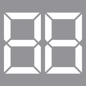 Adesivos Ano De Fabricação Números Digitais P/ Carros, Lojas