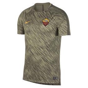 2017-2018 Como Roma Nike Pre - Partido Camisa Entrenamiento 26d50d50794a1