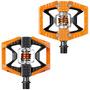 Pedal Crank Brothers Double Shot Plataforma Encaixe Laranja