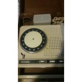 Antiguo Radio Tocadiscos National Retro Vintage Marcha Bien
