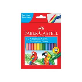 Canetinhas Hidrográficas 12 Cores - Faber Castell