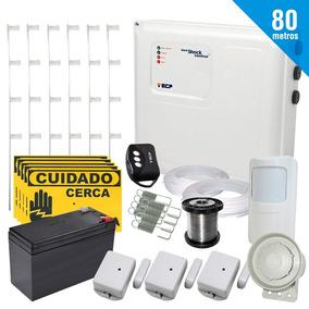 Kit Central De Cerca Elétrica + Alarme Ecp 80 Mts + Bateria