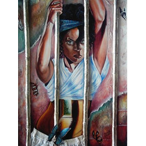 Pintura Oleo Arte Figurativo Mujer En Busqueda De Libertad