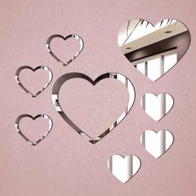 Espelho Decorativo Coração Vazado Decoração