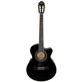 Washburn Guitarra Electro Acustica Negro Modelo Eact12