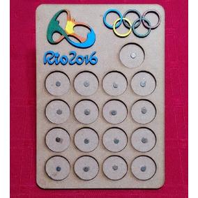 Quadro Expositor De Moedas Em Mdf - Olimpíadas Rio 2016