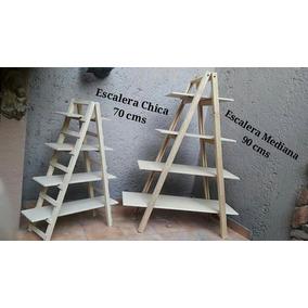 Escalera Decorativa De Madera Rustica Candy Bar Vintage