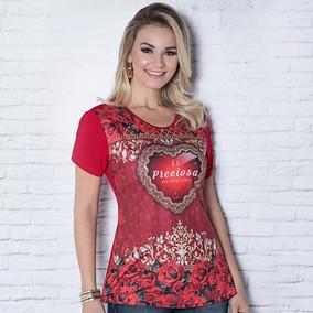 1adb3616d Camisetas Agape Ostensorio Feminina - Calçados, Roupas e Bolsas no ...