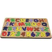 Encaixe Educativo Tabuleiro Alfabeto Número Brinquedos Jogos