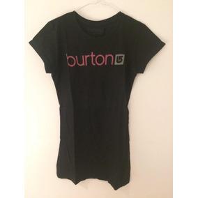 Remera Mujer Burton Skate Ski Snowboard 100 % Algodón