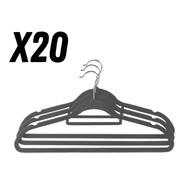 20 Perchas Reforzadas Con Antideslizante Máxima Calidad