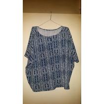 Camisolas-tunicas Estampadas De Pique Y 3 Y 4xl $ 390