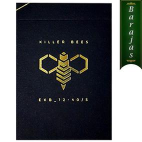 Baraja Killer Bees Para Poker Magia Cardistry Cartas Negras