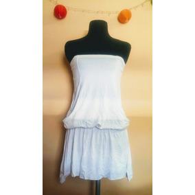Vestido Strapless Corto Blanco Ossira Tienda Sophia